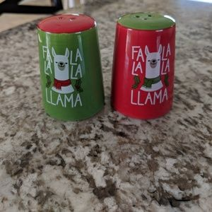 Other - Llama Christmas Salt and Pepper Shakers